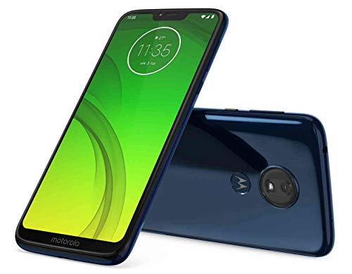 Motorola Moto G7 Power 32GB+3GB RAM XT1955-2 LTE Factory Unlocked GSM 5000mAh Battery Smartphone (International Version) (Marine Blue)