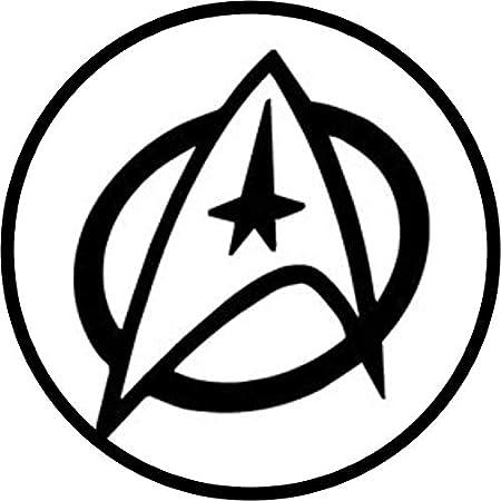 Star Trek Logo Iron On Patch Black White