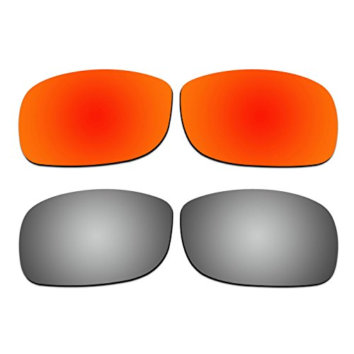2 Pair COODY Replacement Polarized Lenses for Ray-Ban RB4057 61mm Sunglasses Pack ()