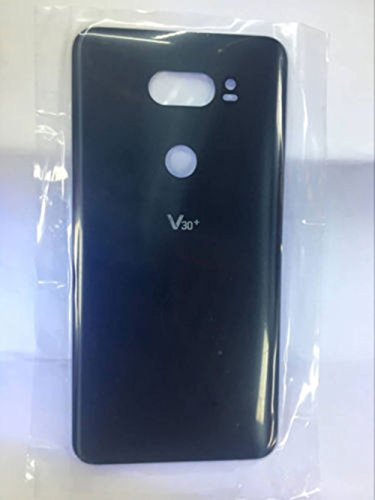 Foir Replacement Battery Back Glass Cover Rear Door Housing for LG V30+ Plus (Black)
