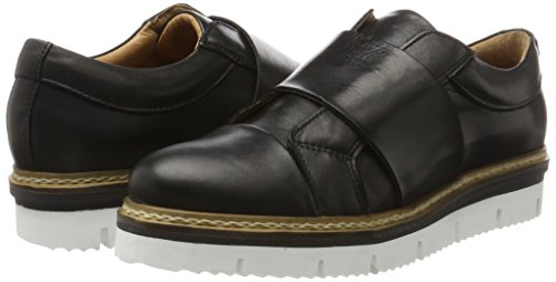 Bianco Cleated black Loafer 10 Mocassini Nero Donna Heavy ddEqYfxr