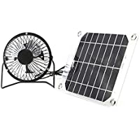 Solar Fan 5W 4 inch Free Energy Green Energy Power Ventilator for Greenhouse Motorhome House Chicken
