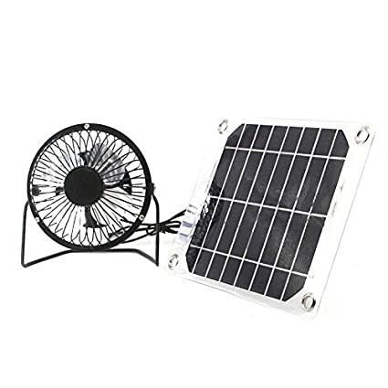 Official Website 6 Inch Black Solar Panel Powered Usb 10w Fan Cooling Ventilation Car Cooling Fan For Outdoor Traveling Fishing Home Office Fans