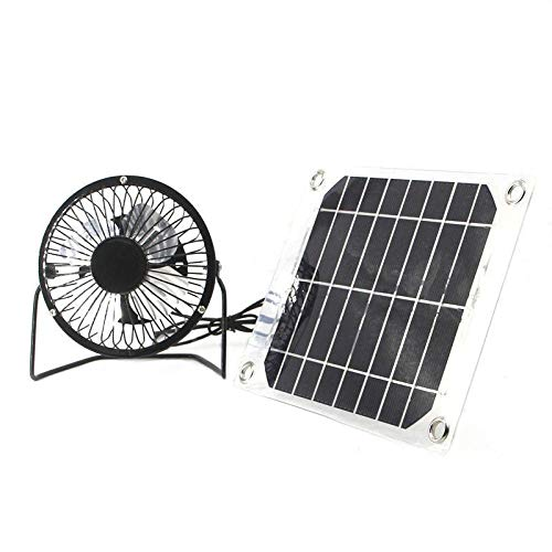 (Solar Fan 5W 4 inch Free Energy Green Energy Power Ventilator for Greenhouse Motorhome House Chicken House Outdoor Home)