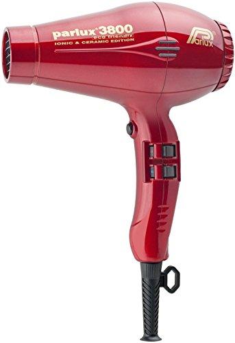 Parlux 3800 - Secador de pelo profesional de cerámica con iones, color rojo