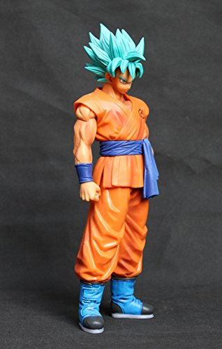 [Dragon Ball Z Resurrection F The Son Goku Gokou Super Saiyan Banpresto Master Stars piece 27CM Huge Action] (Dragon Ball Costume With Tail)