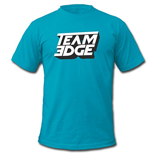 Spreadshirt Team Edge Logo Men's Fine Jersey T-Shirt, M, Turquoise - Edge Logo T-shirt