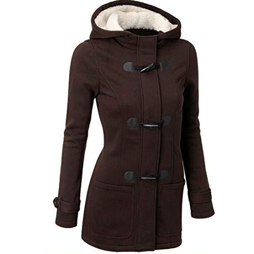 Manteau Vent Chaud pour Confortable Veste Outwear Coupe Mode Laine XL GY Femmes MEIbax Trench et Mince Caf Long Chaud qxwztXBx
