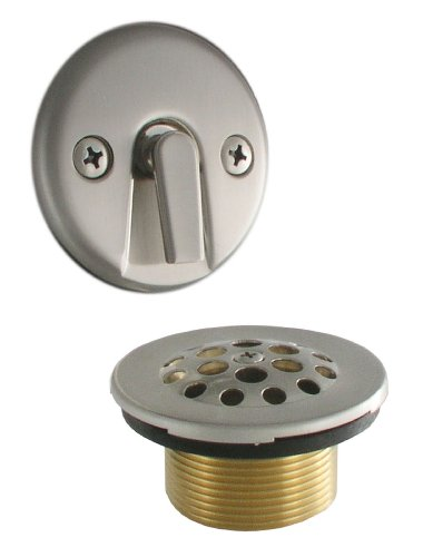 (LDR 552 5100BN Waste and Overflow Kit with Trip Lever and Strainer, Brushed Nickel)