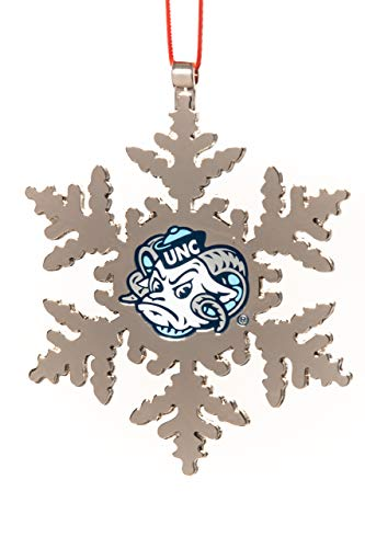 (Collegiate Pulse UNC Tarheels NCAA RAMESES Snowflake Christmas Ornament)