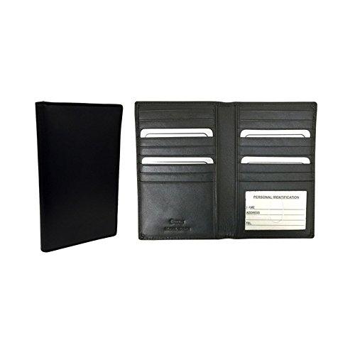 I D Slots w Card Napa Window International Winn Cowhide Leather Black Wallet x8f81O