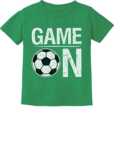 (Tstars - Game On! Gift for Soccer Lover/Player Toddler Kids T-Shirt 4T)