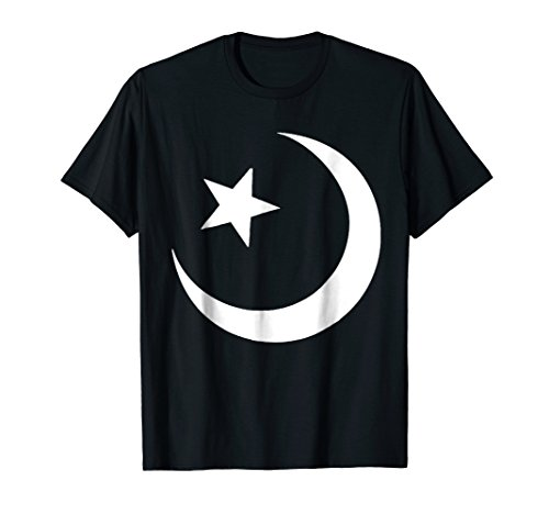 Muslim Symbol T-Shirt Star And Moon Crescent