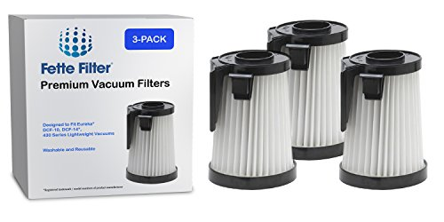 3-Pack - Eureka DCF-10, DCF-14 Compatible Dust Cup Filter. Replaces Part # 62731, 62396 ()