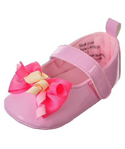 Laura Ashley Baby Girls' Mary Jane Booties - Pink, 18-24 Months