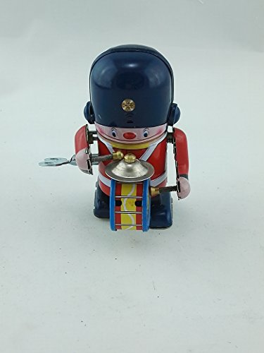 Butterfly Costumes At Walmart (Vintage Tin Toy Soldier Drummer Windup Robot Retro Collectable)