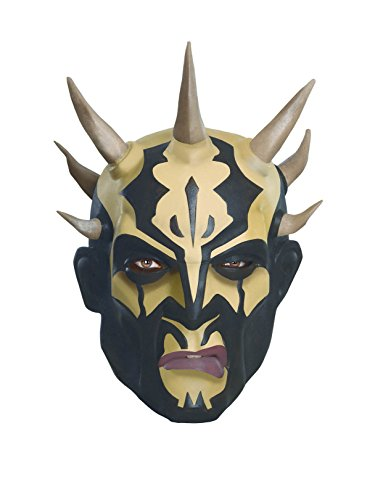 (Star Wars Clone Wars Savage Opress Adult Mask, Black/White, One)