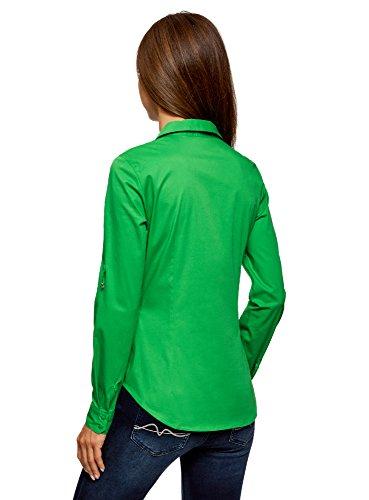 basic tasche Camicia con sul verdi Ultra petto 6a00n Basic Oodji fqcA4qTdZ