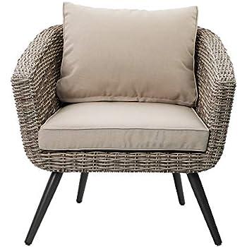 Amazon.com: Handy Living Aldrich – Silla de ratán de tejido ...
