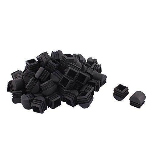 Piernas eDealMax Muebles de plástico Vector de la Silla de tubo cuadrado de Tubería Insertos Caps 25mm x 25mm 70pcs Negro by eDealMax