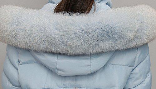 Veste Parka Blouson À Manteau Doudoune Longue Capuche Bleu Hiver Femme rt4rw