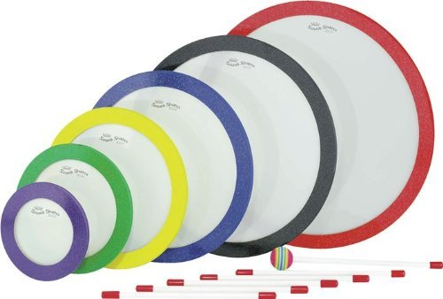 REMO SOUND SHAPES, Circles, 6''/8''/10''/12''/14''/16'', Multi-Color by Remo