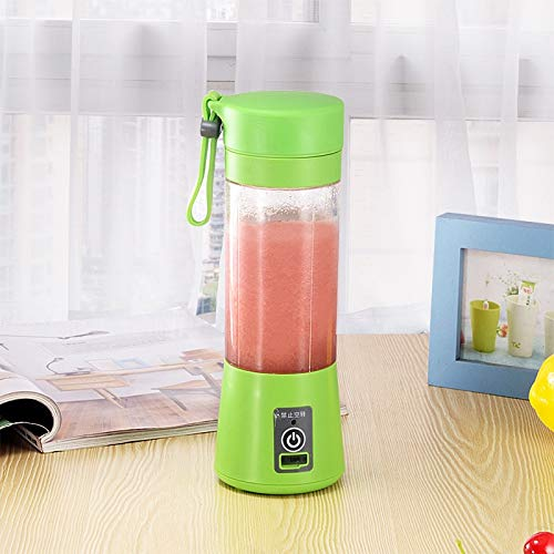 Amazon.com: WxB USB Charging 4 Blades Portable Juicer Juice Smoothie ...