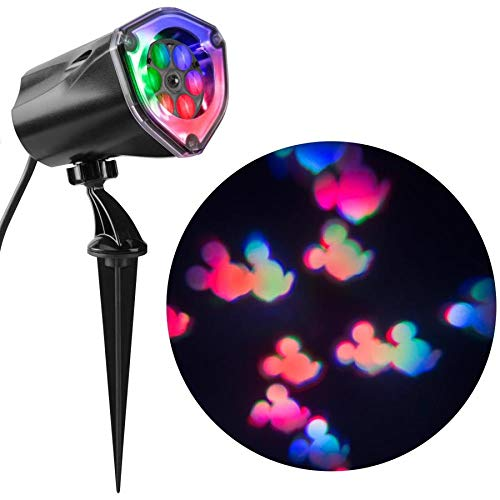Gemmy Lightshow Projection Disney Mickey Mouse Christmas Indoor/Outdoor Stake Light Projector