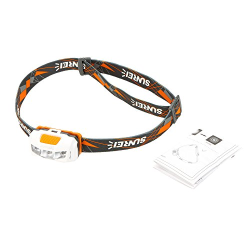 Docooler Outdoor Camping 28 Lumens Mini LED Headlamp Headlight 3 Modes Flashlight Lamp Orange