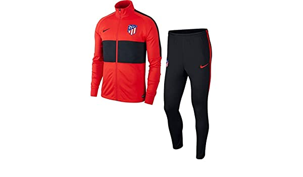 Nike Ch/ándal Hombre Atletico De Madrid 2019//2020 Rojo//Negro AQ0779-600