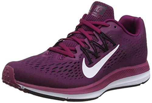 Nike Women's Air Zoom Winflo 5 Running Shoe, True Berry/White/Bordeaux/Burgundy Ash, Size 6.5