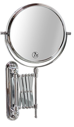 DecoBros-8-Inch-Two-Sided-Extension-Wall-Mount-Mirror-with-7x-Magnification-135-Inch-Extension-Chrome