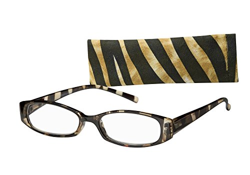 Wink Fancy Zebra Stripe Reading Glass Suede with Case, 1.75, 0.200 Ounce