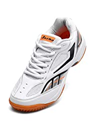 Jazba GECKOR 1.0 Tennis Badminton Volleyball Shoes - Men's Indoor Court Sports Shoes - Fashion Mesh Racquetball Squash Table Tennis Pickleball Training Sneakers