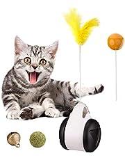 WANXIANG Tumlare smart nteraktiva kattleksaker, interaktiv kattjagare leksak med kattmynta boll, inomhus kattleksaker för teaser kattunge/katter