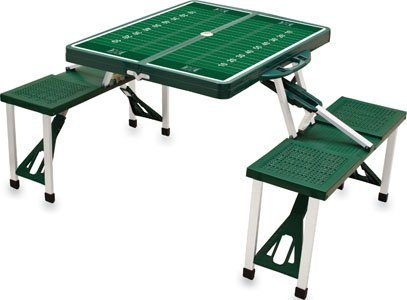 NCAA University of Hawaii Warriors Digital Print Picnic Table Sport, Green, One Size by PICNIC TIME