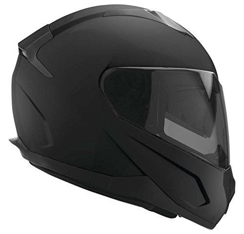 EVS Sports Unisex-Adult's Full-Face Style Stratus Solid Street Helmet (Matte Black, Medium)