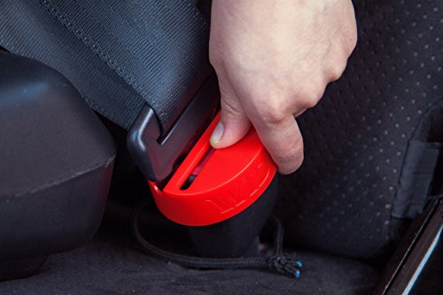 Seat Belt Buckle Lock - Premium Safety Seatbelt Secure Buckle Cover By Wididi - Prevent Your Child From Unintentionally Releasing The Seatbelt - Heavy Duty Durable Plastic - Universal Fit Design