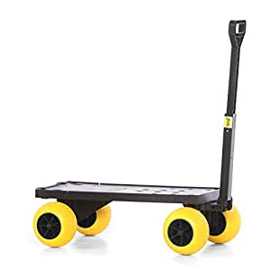 Flatbed Moving Cart Pull Behind Rolling Utility Carts and Wagons Furniture Dolly Dollies with 4 Wheels