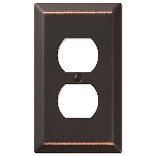 - Amertac 163DDB 1 Duplex Aged Bronze Wall Switch Plate