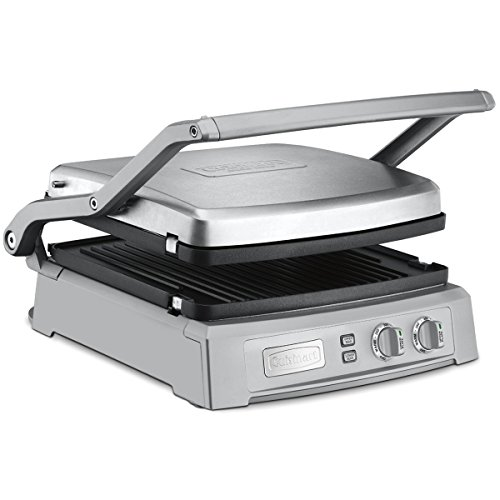 Cuisinart GR-150 Griddler Deluxe, Brushed (Total Non Stick Square Griddle)