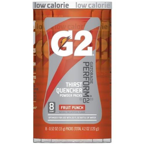 Gatorade G2 Perform Fruit Punch Sports Drink Powder, 4.2 Ounce - 8 per case.