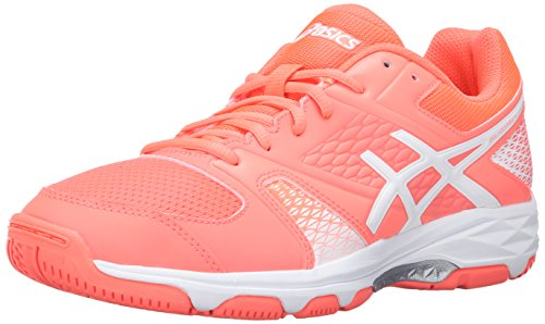 ASICS Women's Gel-Domain 4 Volleyball Shoe, Flash Coral/White/White, 8.5 M US (Asics Gel Domain)