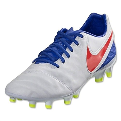 Nike Women's Tiempo Legacy 2 FG - (White/Bright Crimson/Racer Blue/Volt) (7.5) by Nike