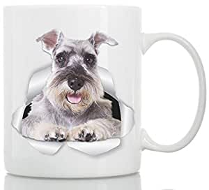 Super Gray Schnauzer Mug - Ceramic Schnauzer Coffee Mug - Perfect Schnauzer Gifts - Funny Cute Schnauzer Dog Mug for Dog Lovers and Owners (11oz)