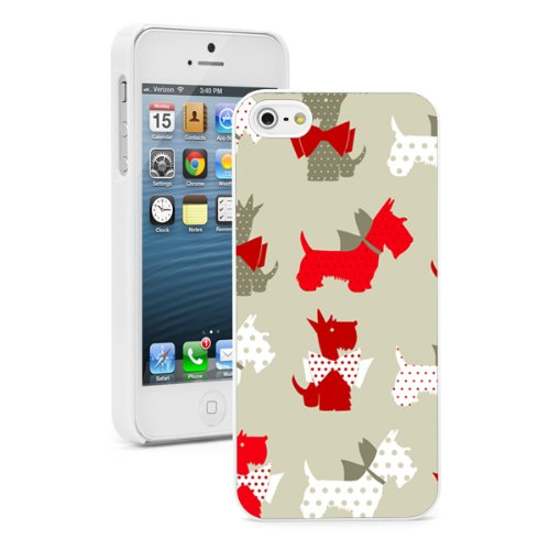 Apple iPhone 6 Plus / 6s Plus Hard Back Case Cover Scottie Scottish Terrier Dogs Red Gray Pattern (White)