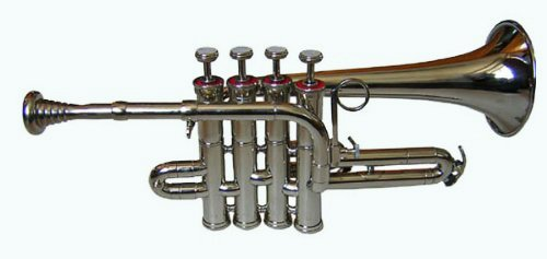 Queen Brass Classic Student-Grade Piccolo Trumpet Ultra Economy Bb Pitch and Mouthpiece MI 068