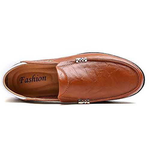 Color Marrone mocassini Uomo shoes Light Dimensione Scuro sono fondi Mocassini Yajie EU da fino fatti uomo alla 47EU brown 2018 37 taglia e morbidi Mocassini da di Cq66wH4