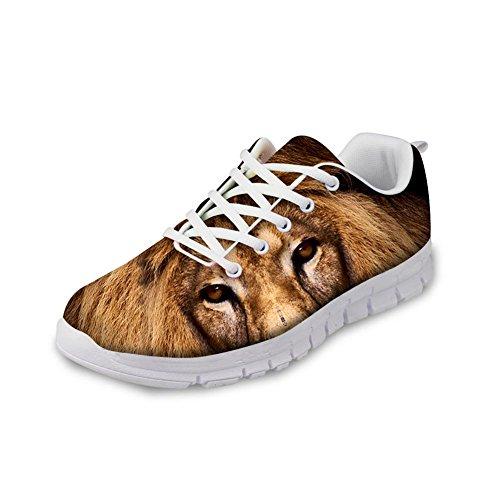 Abbracci Idea 3d Animali Modello Mens Moda Sneaker Leggero Leone