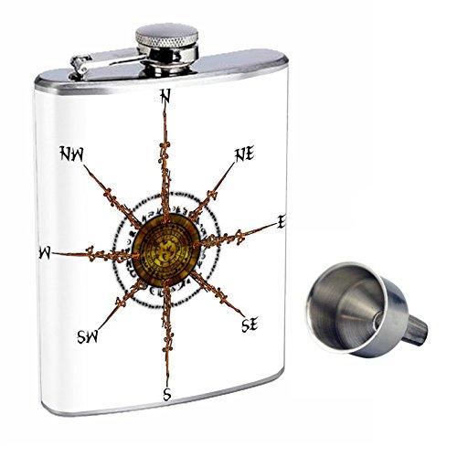 最高の ビンテージコンパスPerfection Flask inスタイル8オンスステンレススチールWhiskey Flask with Free Free Funnel d-001 Funnel B016XL7QG0, EX-SCUBA:9e5d94a5 --- digitalmantraacademy.com